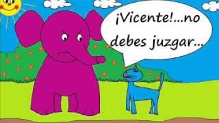 getlinkyoutube.com-Historietas y cuentos infantiles de animales - Gato Barnabe y la Vecina de Vicente - brujas.wmv