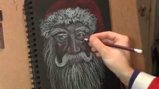 getlinkyoutube.com-How To Draw Santa Claus (Real Time)