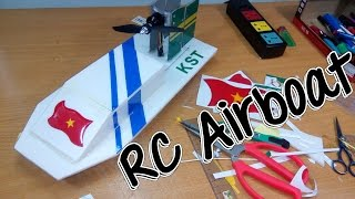 getlinkyoutube.com-How To Build Airboat RC with brushless motor