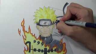 getlinkyoutube.com-Drawing Naruto and Sasuke