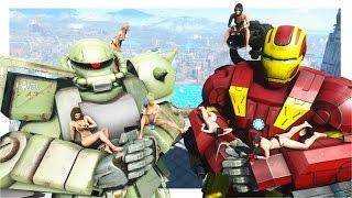 getlinkyoutube.com-Fallout 4 Mod Review 109 - GUNDAM MOD VS. WAR MACHINE & IRON MAN MOD - Boobpocalypse