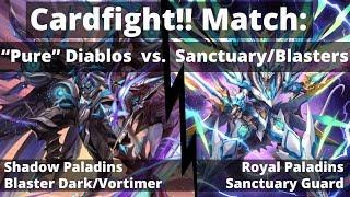 getlinkyoutube.com-Vortimer/Blaster Dark Diablo vs. Sanctuary Guard/Blasters  |  CARDFIGHT!! VANGUARD MATCH