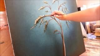 getlinkyoutube.com-How to paint a tree with white blossoms