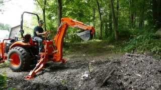getlinkyoutube.com-Kioti Tractor Backhoe Review