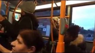 Punjabi women fights on bus with a black women