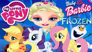 getlinkyoutube.com-💫 Baby Barbie My Little Pony  & Frozen Costumes Makeover and Dress Up Game