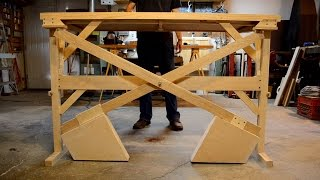 getlinkyoutube.com-Wooden Counterweight Desk (or Table)
