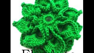 getlinkyoutube.com-Flor de crochê