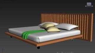 getlinkyoutube.com-3ds max - Modern Bed Tutorial