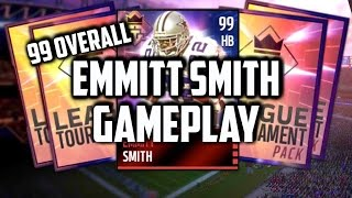 getlinkyoutube.com-How to get 99 Emmitt Smith and Jerry Rice SUPER EASY | 99 Emmitt Smith Gameplay | Madden Mobile