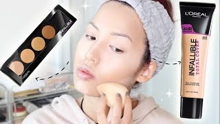 getlinkyoutube.com-BRAND NEW | L'OREAL INFALLIBLE TOTAL COVER FOUNDATION + CONCEALING CONTOUR PALETTE