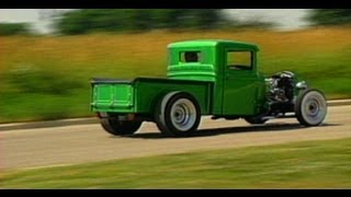 getlinkyoutube.com-We go for a ride in a 1934 Ford Hot Rod Pick Up Truck