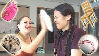 getlinkyoutube.com-MEGA TAARTGEVECHT CHALLENGE OP SCHOOL! || Meisjedjamila