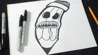 comment dessiner un crayon graffiti