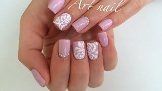 getlinkyoutube.com-Дизайн Ногтей Розы! Объемные Розы на Ногтях!  Nail Art Designs