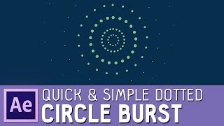 Quick & simple After Effects dotted circle burst (with elipse and dash options)