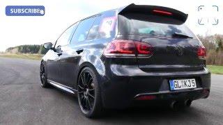getlinkyoutube.com-740 HP VW Golf 6 R 3.6 V6 BiTurbo HGP FAST! 60-230 km/h Acceleration
