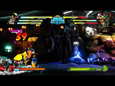 Marvel vs Capcom 3: Wolverine Gameplay Montage