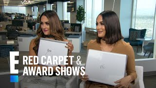 Nikki-Brie-Bella-Play-Domestic-Divas-E-Live-from-the-Red-Carpet width=
