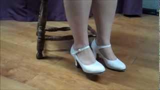 getlinkyoutube.com-White Heels Foot Tapping