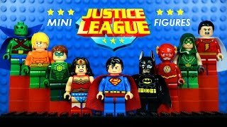 getlinkyoutube.com-LEGO Justice League DC Superheroes KnockOff Minifigures w/ Superman Batman & Wonder Woman