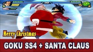 getlinkyoutube.com-Goku SS4 and Santa Claus Fusion | Super Sainta SS4 Saves Christmas | DBZ Tenkaichi 3 (MOD)