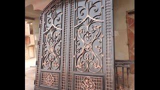 getlinkyoutube.com-جديد اعمالنا من الحديد fer forgé المزخرف طريقة صنع باب مرآب garage