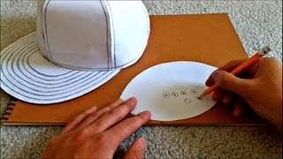 getlinkyoutube.com-Tutorial on How to Make a Flat Brimmed Paper Hat (New Era Style)