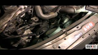 getlinkyoutube.com-BENZWERKS drive belt replacement (serptine belt)
