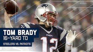 getlinkyoutube.com-Tom Brady Leads Efficient 80-yard TD Drive! | Steelers vs. Patriots | AFC Championship Highlights
