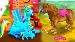 getlinkyoutube.com-Rainbow Dash Baby + Jumping - Let's Play Online Horse Games -Thank You 50,000 Subbies