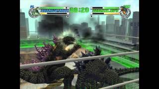getlinkyoutube.com-Godzilla: Destroy All Monsters Melee - Godzilla 2000 VS. Godzilla 90'S (THE RING)