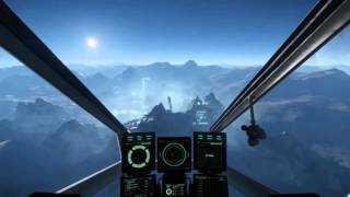Star Citizen - 1st seamless procedural planetary landing gameplay