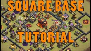 getlinkyoutube.com-Clash of Clans | TH10 Square Base Tutorial | Get Stars Every Time | Tutorial #2