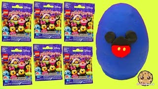 getlinkyoutube.com-20 Disney Movie Characters Lego Minifigures Surprise Blind Bags Playdoh Egg Video