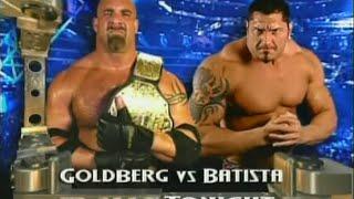 Goldberg vs. Batista [RAW - 3rd & 10th November 2003] width=