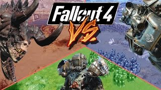 getlinkyoutube.com-Raider vs Brotherhood of Steel vs Deathclaw | Fallout 4 Battle Arena |  Battle Request