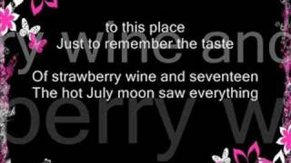 getlinkyoutube.com-Strawberry Wine W/ lyrics