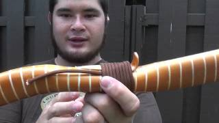 getlinkyoutube.com-Tab Style Arrow Rest and Paracord Wrap for Snakey Recurve