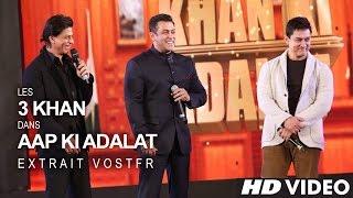 getlinkyoutube.com-Shah Rukh KHAN, Salman KHAN & Aamir KHAN - 21 Years Of AAP KI ADALAT (VOSTFR)