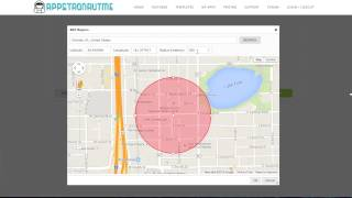 Mobile App Builder/Maker - Geofences Push Notification Tutorial - AppstronautMe