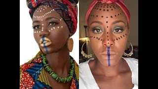 getlinkyoutube.com-The maroon Jamaican• (tribal makeup) GHANA| Beatiful Artistry