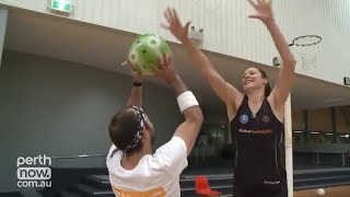 getlinkyoutube.com-Tall Women Playing Basketball with Short Guys