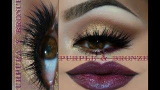 getlinkyoutube.com-@auroramakeup -Maquillaje en Bronce y Purpura (bronze & purple makeup)