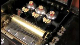 getlinkyoutube.com-Caja de Música de 10 Melodías, con Mariposas Autómatas, 1880-1900
