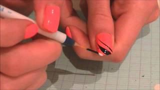 getlinkyoutube.com-Exemple utilisation des pinceaux nail art + Bon plan EBAY