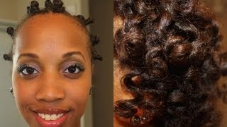 getlinkyoutube.com-Bantu Knot Out on Straight Hair | OBI Natural Haircare Review