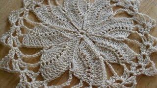 getlinkyoutube.com-Tejido circular de 8 abanicos crochet