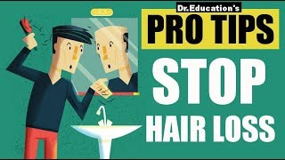 Pro Tips  1  First 5 Steps To Stop Hair Fall   Dr.education  Eng & Hindi