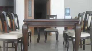 Tavolina dhe karike nga druri GUN-INTERIER